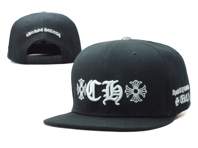 ChromeHearts Black Snapback Hat SF 0512